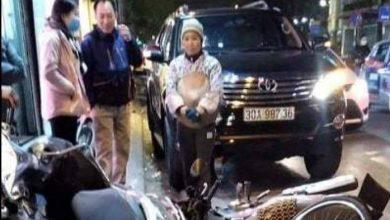 Nữ tài xế xe Fortuner tông liên tiếp 6 xe máy trên phố Thái Thịnh 1