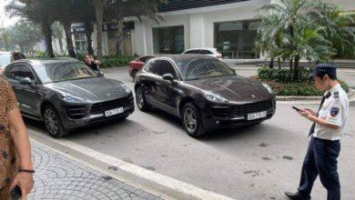 Tạm giữ 2 xe sang Porsche trùng biển số xuất hiện tại Khu đô thị Times Cit 1